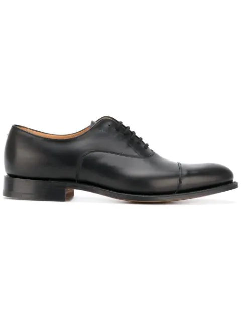 Church's Men's Classic Leather Lace Up Laced Formal Shoes Dubai Oxford In Black