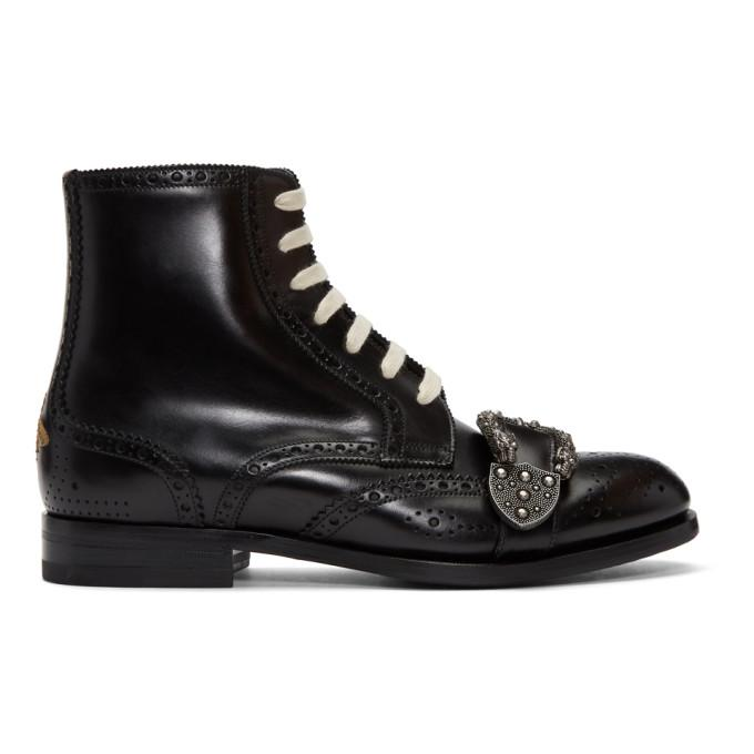 de87056c9a4 GUCCI BLACK QUEERCORE BROGUE BOOTS