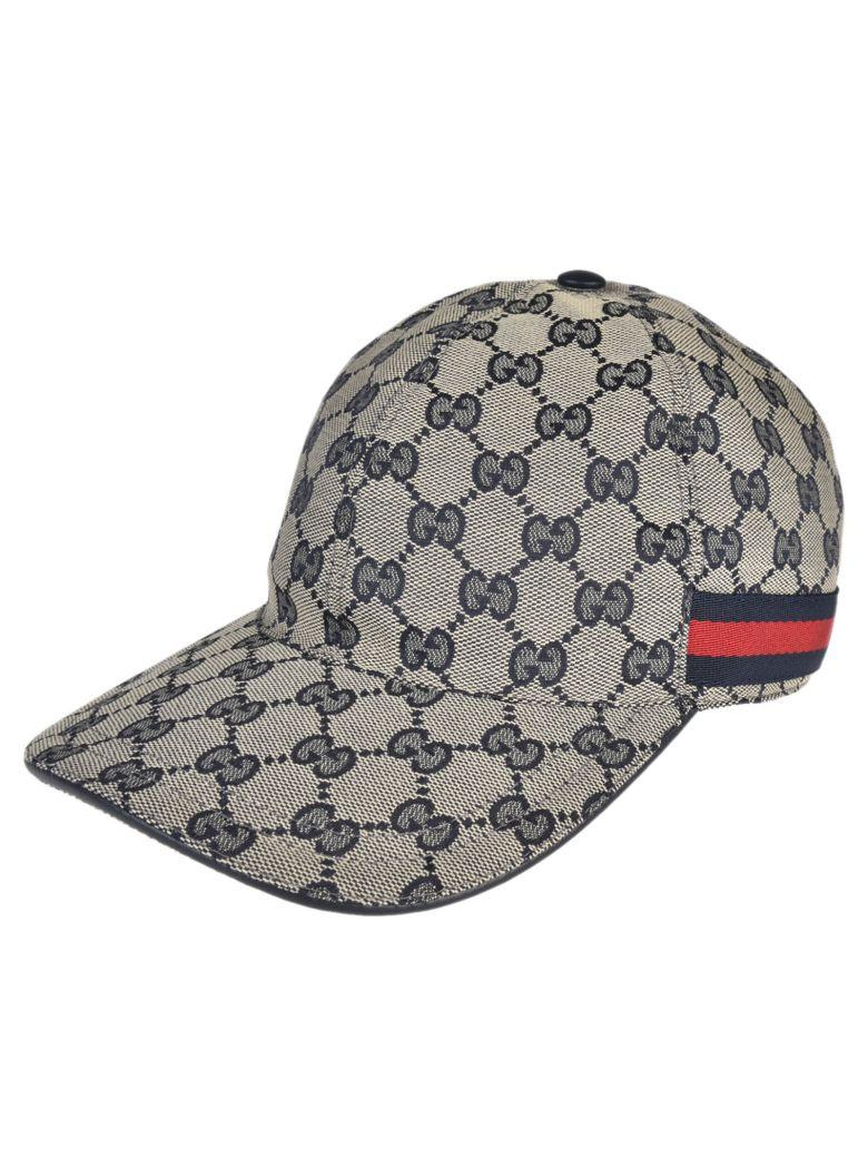 385db86a Gucci Men's Gg Canvas Baseball Hat With Blue/Red Web | ModeSens
