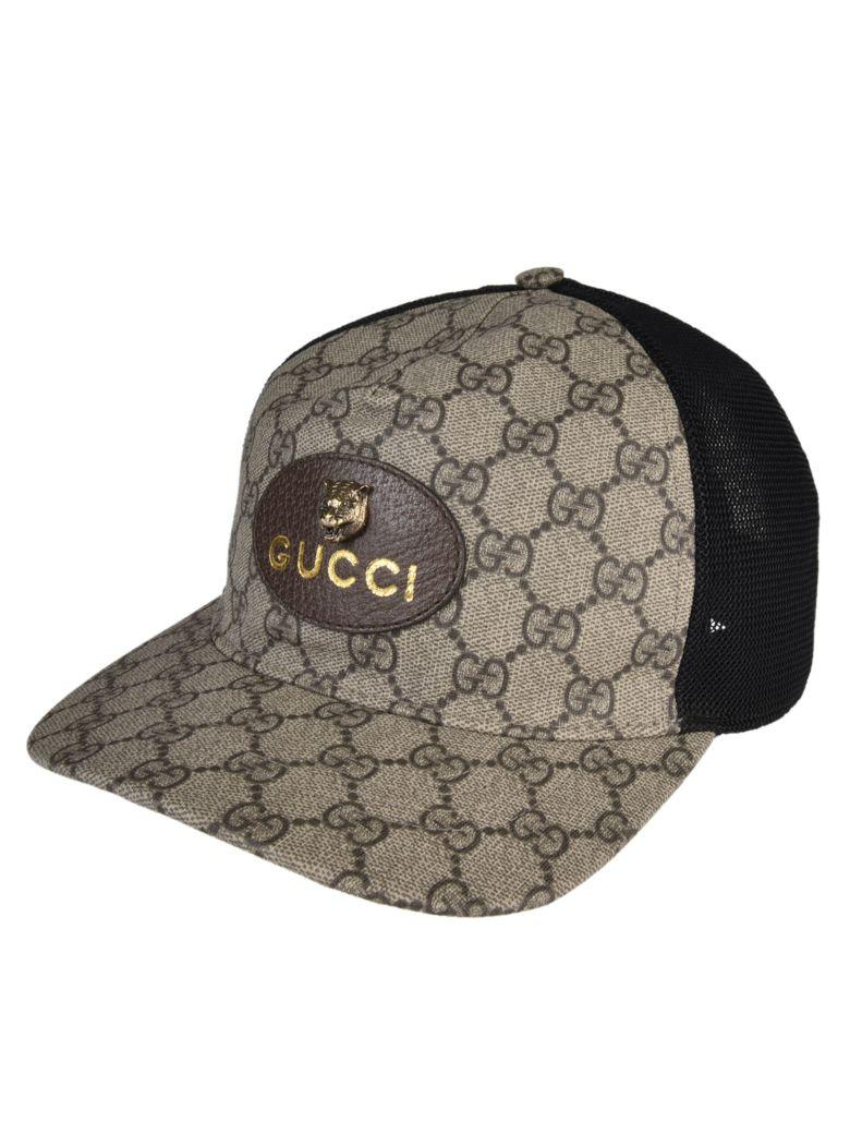 635d8fc39af55 Gucci Gg Supreme Baseball Cap With Feline Head