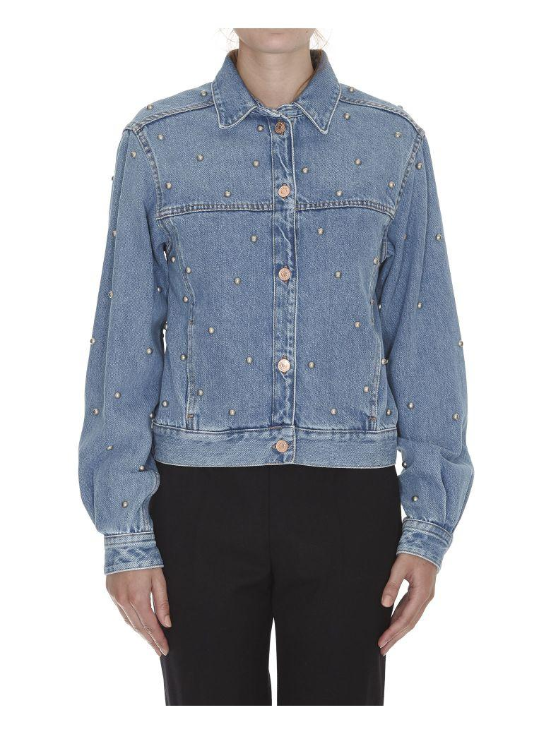 Etoile Isabel Marant Coften Denim Jacket In Light Blue