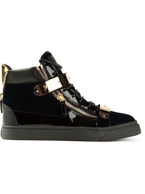 Giuseppe Zanotti Golden Strap Hi-Top Sneakers
