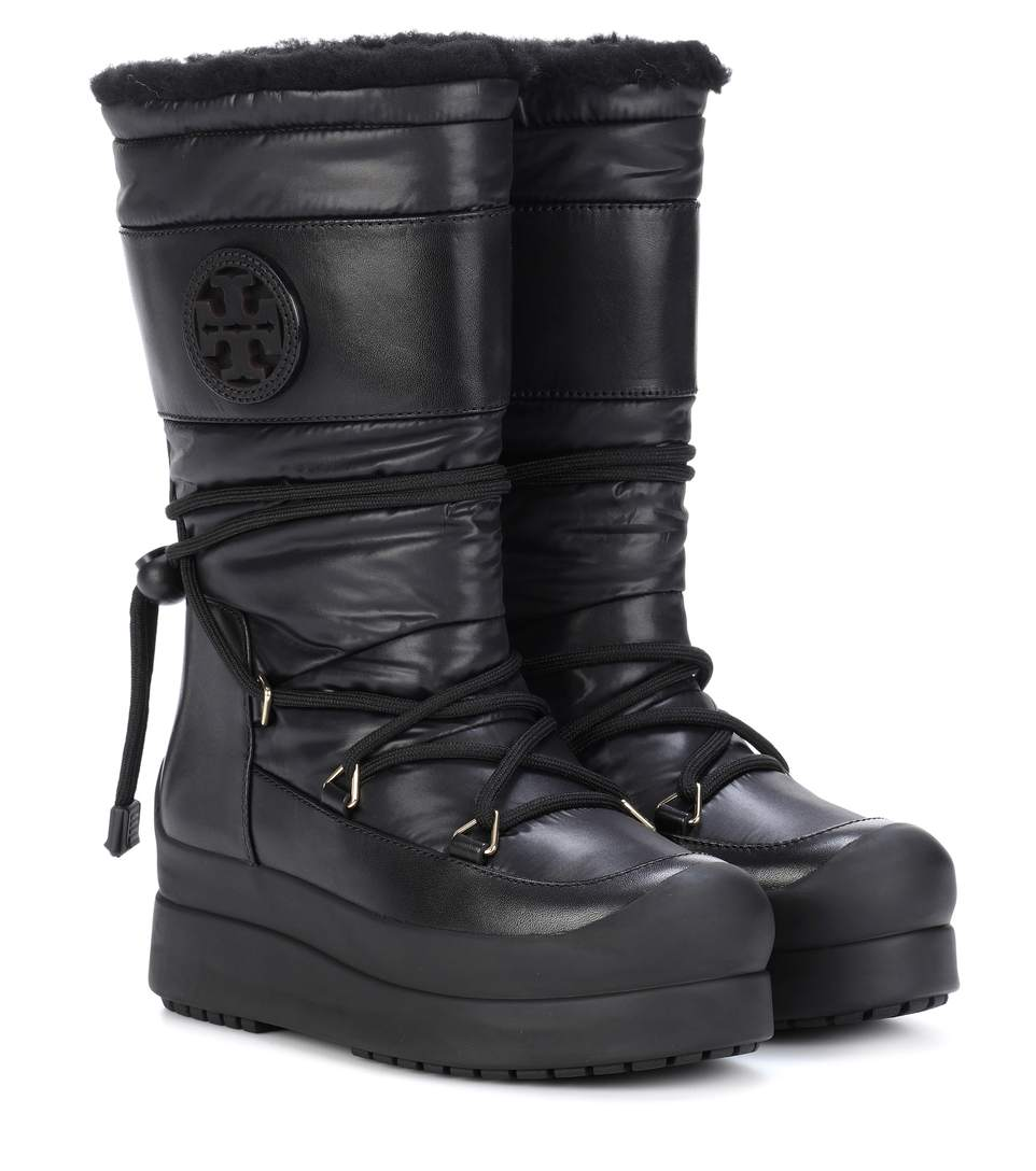 b9fb75927a0 Tory Burch Cliff Genuine Shearling Lined Boot In Black