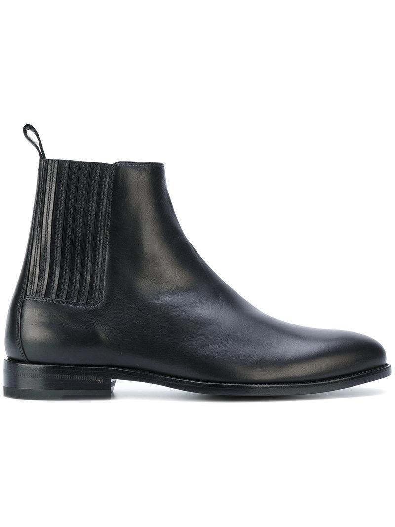 40eee42f9a73 Saint Laurent Polished-Leather Chelsea Boots - Black