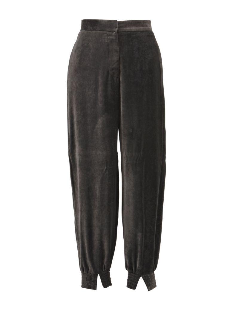 Stella Mccartney Grey Jogger Pants In Dark Grey