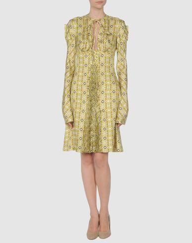 Emanuel Ungaro Short Dress In Light Yellow