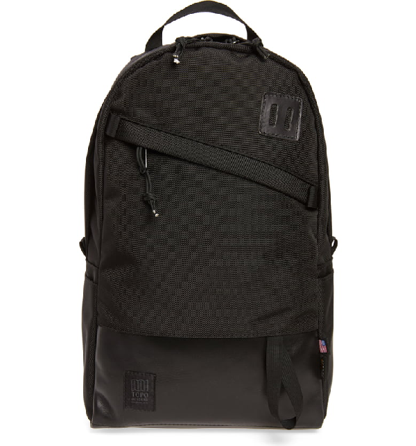 Topo Designs Daypack Cordura Nylon Backpack In Ballistic Black/ Black
