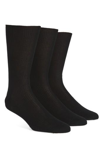 Calvin Klein Cotton Blend Dress Socks In Black