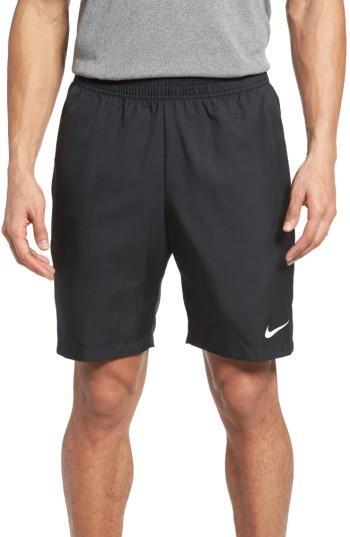 "Nike Men's 9"" Court Dry Tennis Shorts In Black/whit"