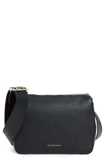 173f258617 Burberry Helmsley Small Leather & House Check Crossbody Bag, Black ...