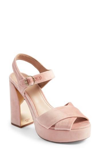 9672ca96111 Tory Burch Loretta Velvet Platform Sandal
