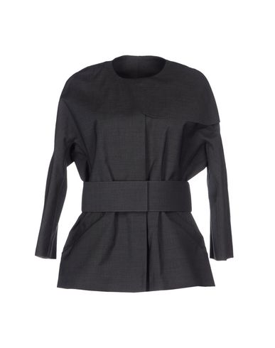 Emporio Armani Belted Coats In Lead
