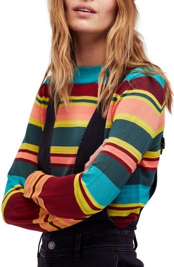 Free People Show Off Your Stripes Sweater In Green