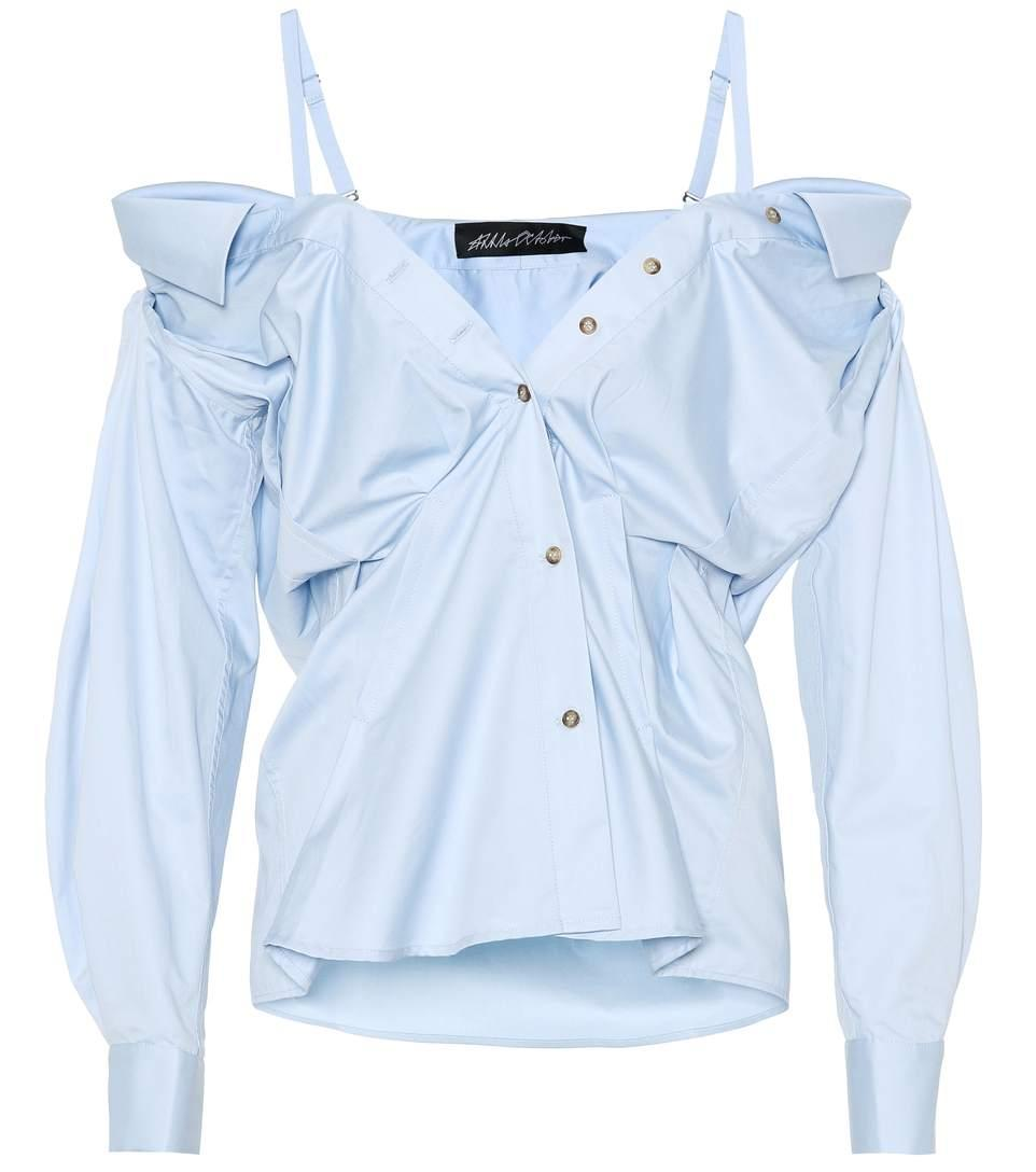 Anna October Cotton Blouse In Blue