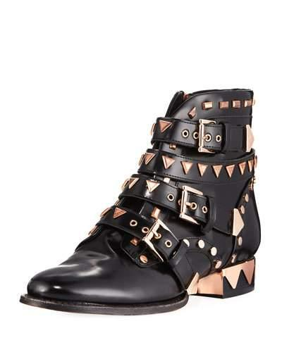 4ea12890cc3d Sophia Webster 20Mm Riko Studded Leather Biker Boots