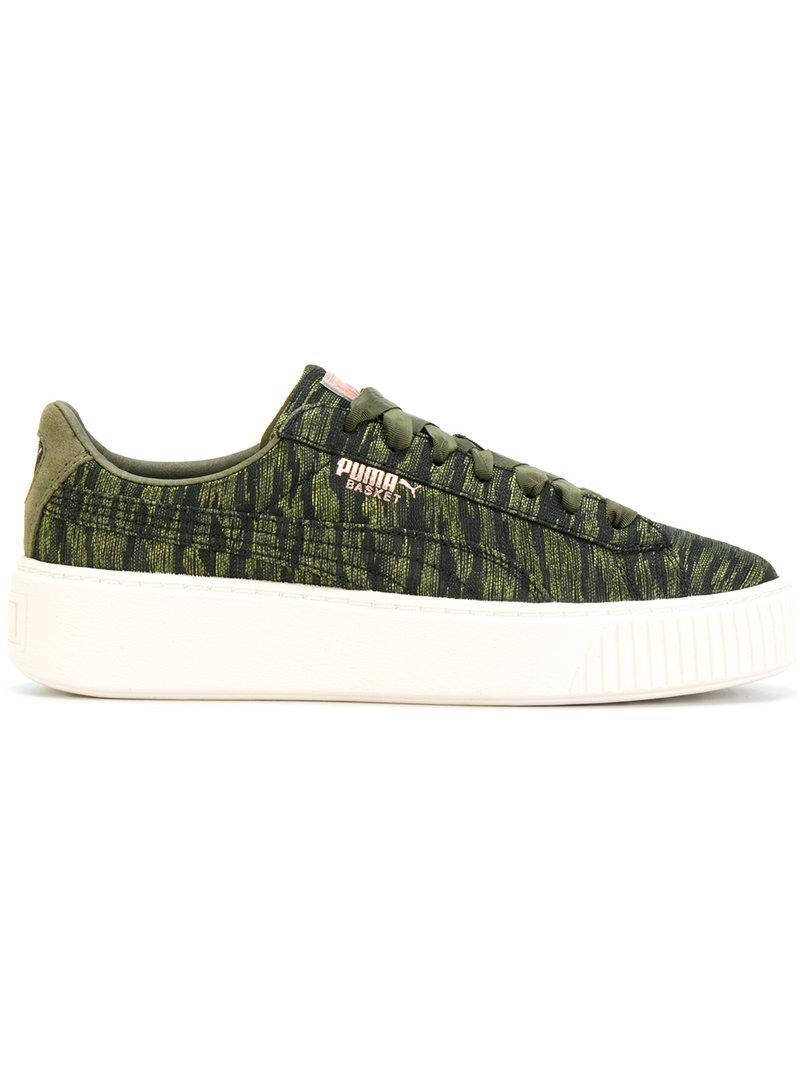 e565e595eb8 Puma Women s Basket Platform Velvet Rope Casual Sneakers From Finish Line  In Green