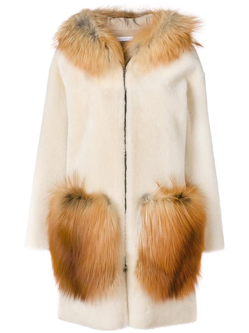InÈs & MarÉchal Shearling And Fox Fur Bonbon Parka In Neutrals