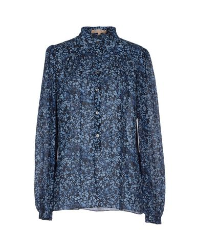 Michael Kors Floral Shirts & Blouses In Dark Blue