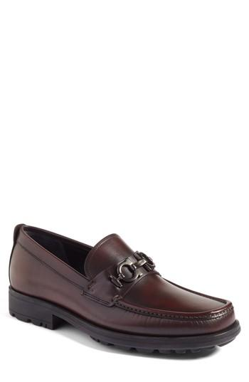 Salvatore Ferragamo Men's David Leather Lug-Sole Loafer In Hickory Leather