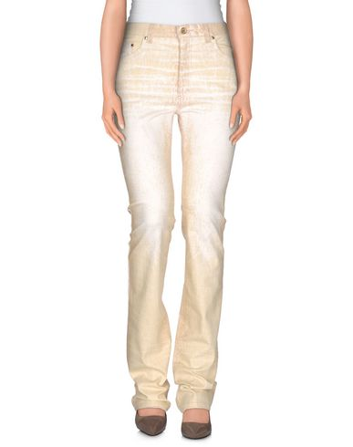 Roberto Cavalli Denim Pants In Beige