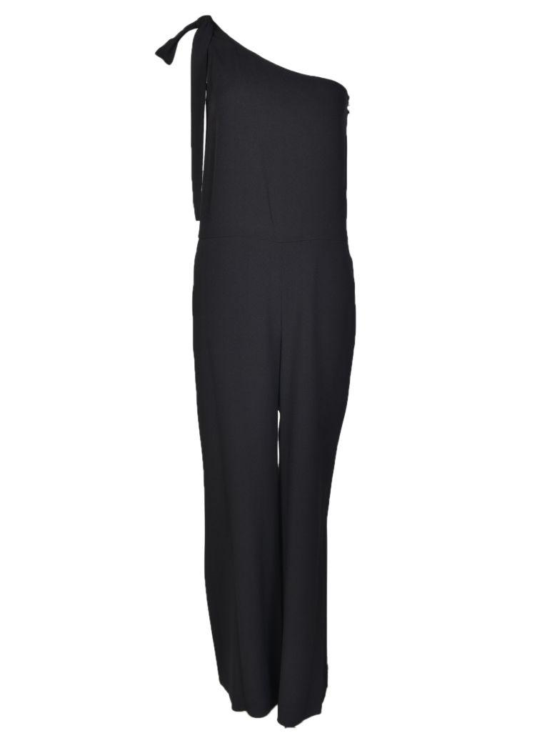 f34e971e5acb Theory  Eilidh  Knotted Strap Crepe One-Shoulder Jumpsuit In Black ...