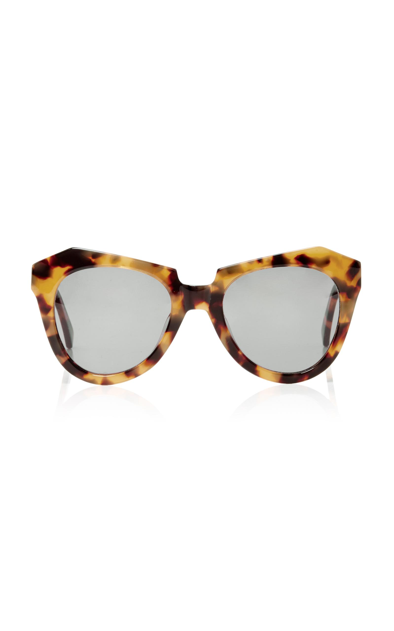 9bbcaab13a0 Karen Walker Number One Round-Frame Tortoiseshell Acetate Sunglasses In  Brown