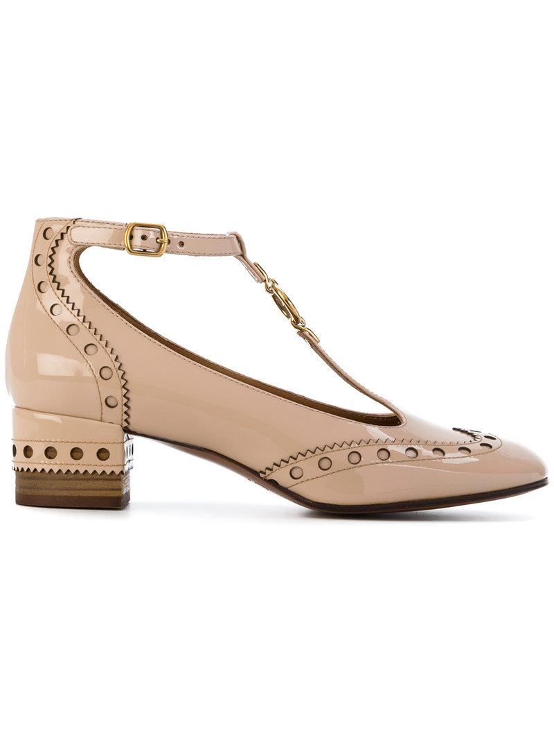 ad153b8d38f7 ChloÉ Chloe Perry Patent Leather Pumps In Neutrals