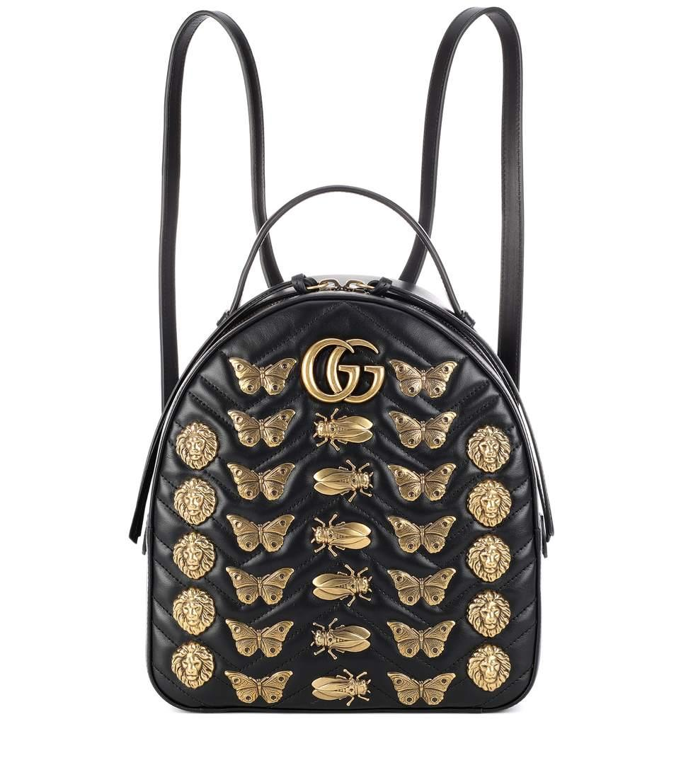 271e0160d2ba Gucci Gg Marmont Animal Studs Leather Backpack In Black | ModeSens