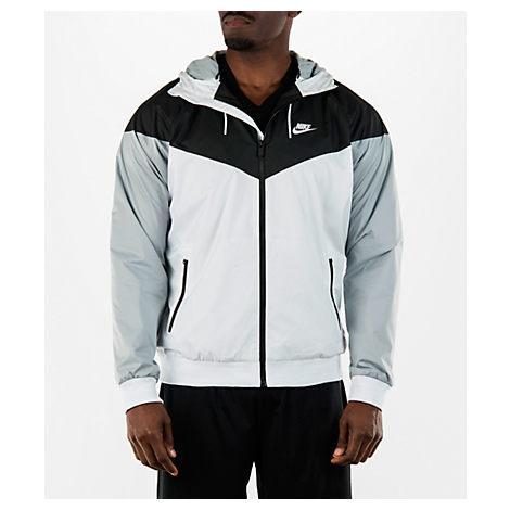 b3fcf62413322 Nike Men's Sportswear Windrunner Full-Zip Jacket, White In White/Black