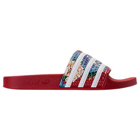 9c2b07e0f Adidas Originals Adidas Women s Adilette Slide Sandals From Finish Line In  Red
