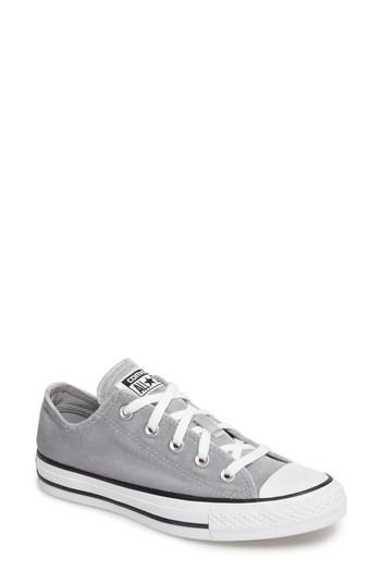 561b851d0b93 Converse Women s Chuck Taylor Ox Velvet Casual Sneakers From Finish Line In  Lone Wolf Grey