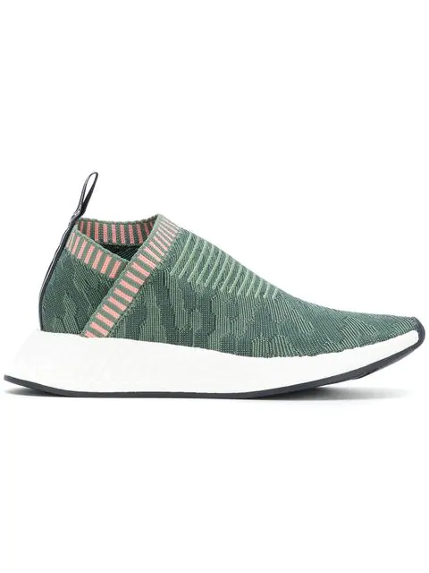 Adidas Originals Nmd_Cs2 Primeknit Slip-On Sneakers In Green