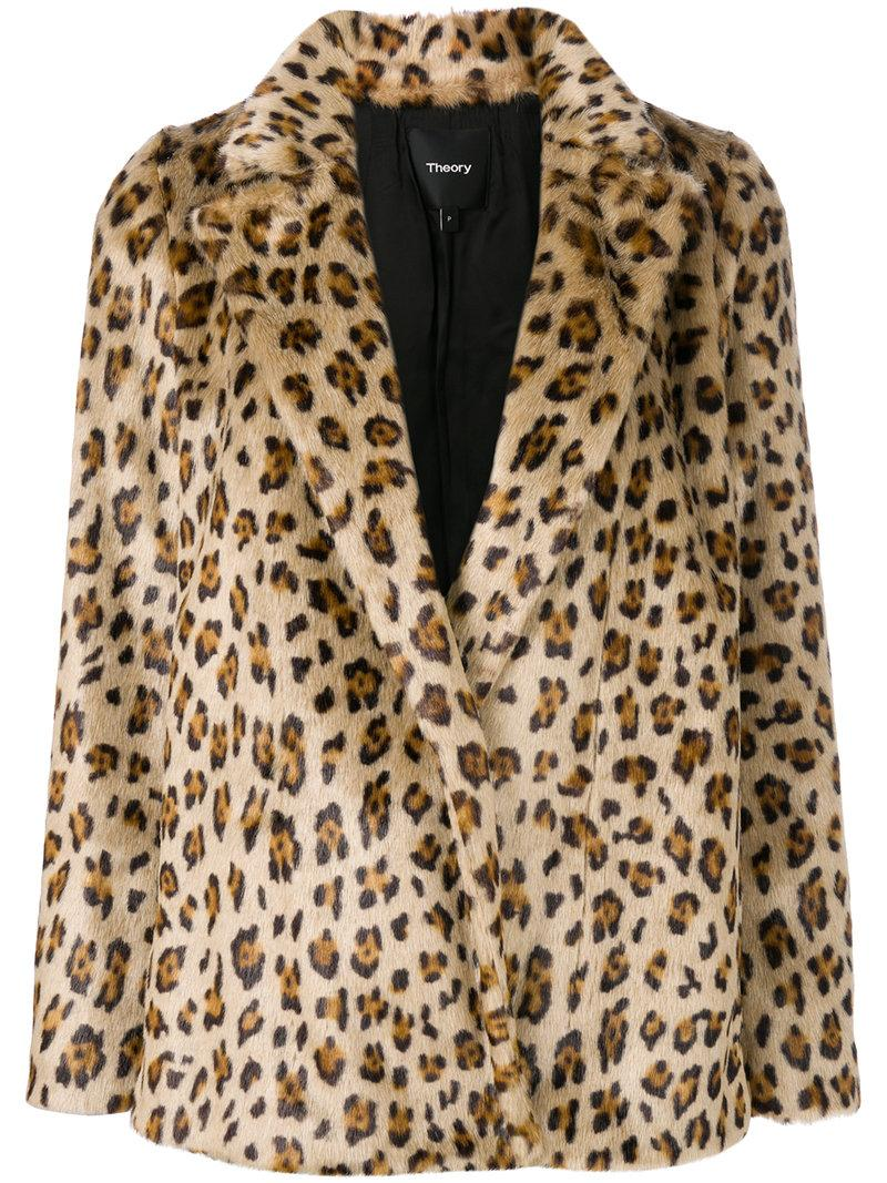 361c2f826cf0 Theory 'Clairene' Leopard Print Faux Fur Jacket | ModeSens