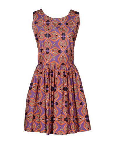 Msgm Short Dress In Purple