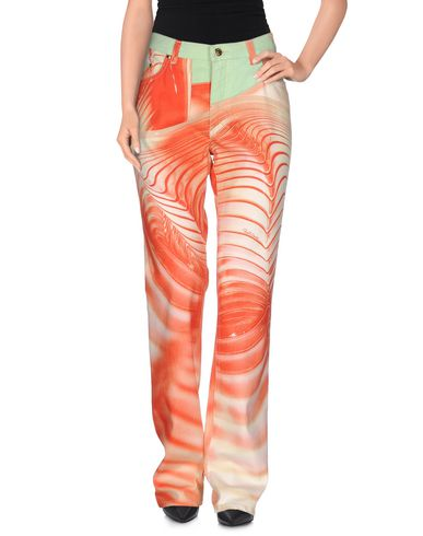 Roberto Cavalli Denim Pants In Orange