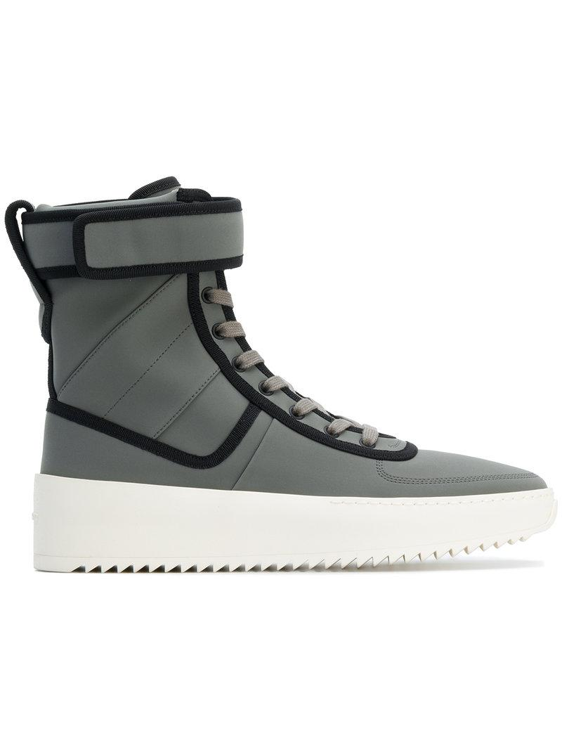 afcb0396e757 Fear Of God Men s Leather High-Top Military Sneakers