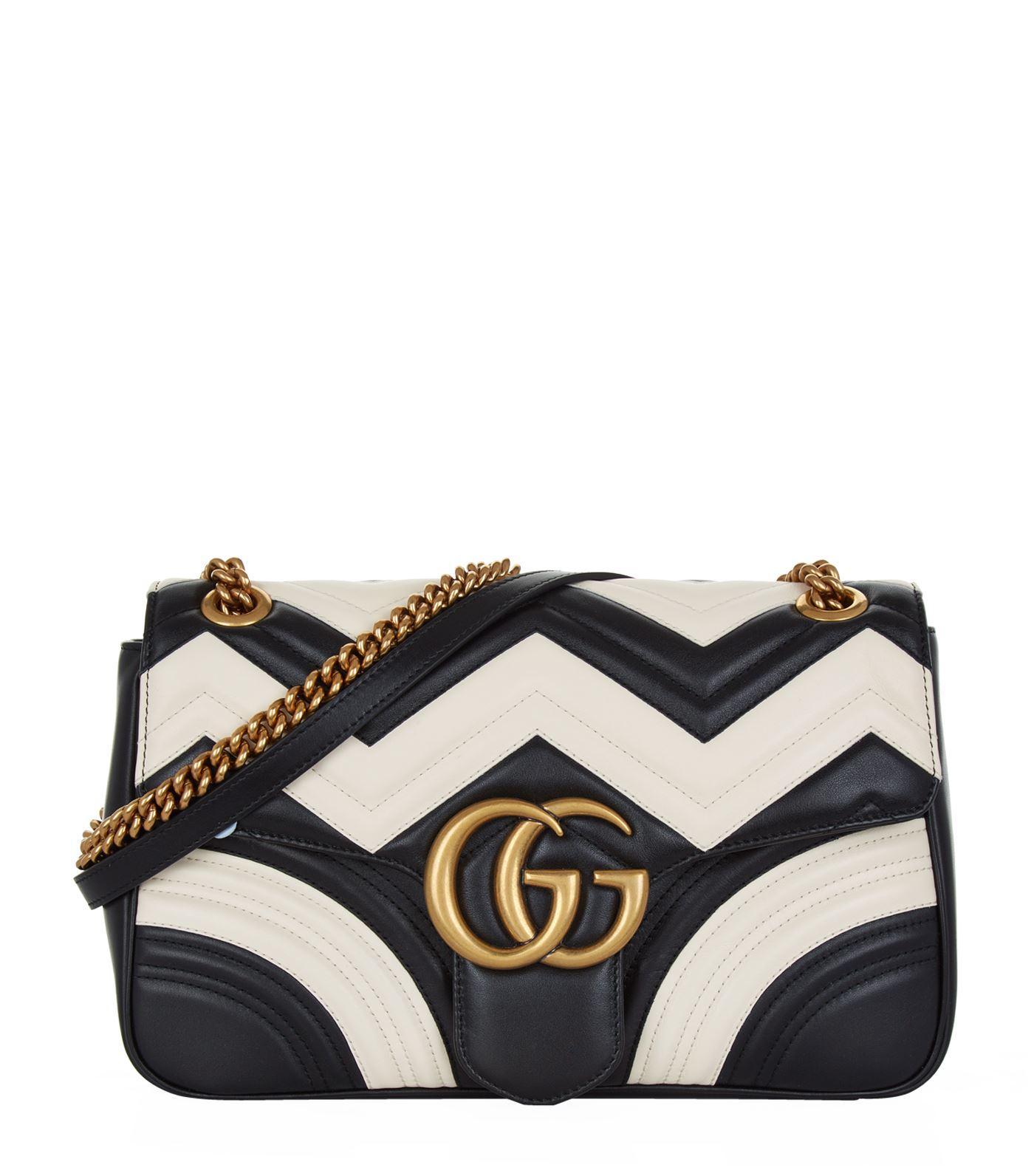 c2cbea9f52e9 Gucci Medium Gg Marmont 2.0 Leather Shoulder Bag - White In Eero ...