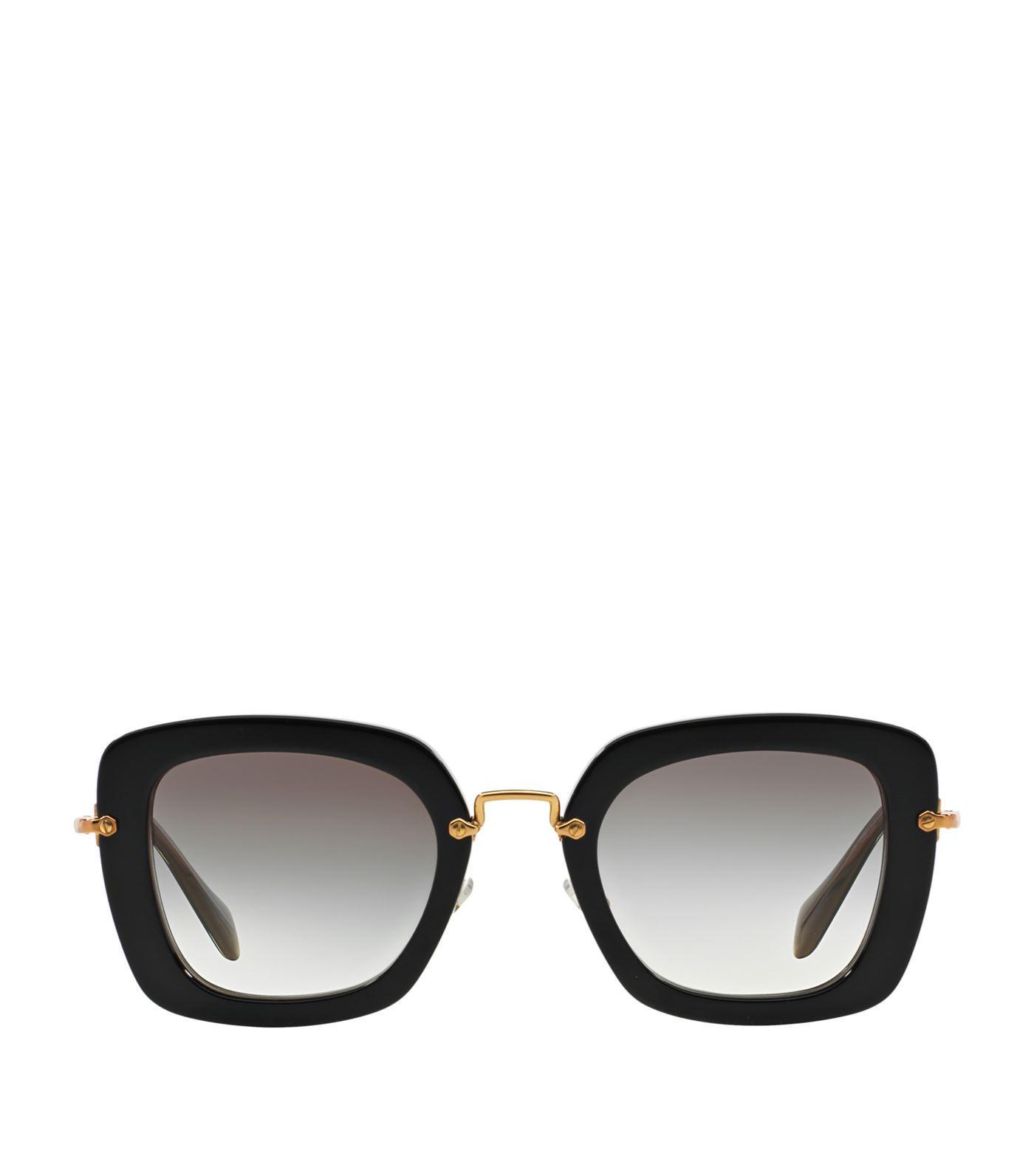 a954615fc29d Miu Miu Noir Square Sunglasses In Black