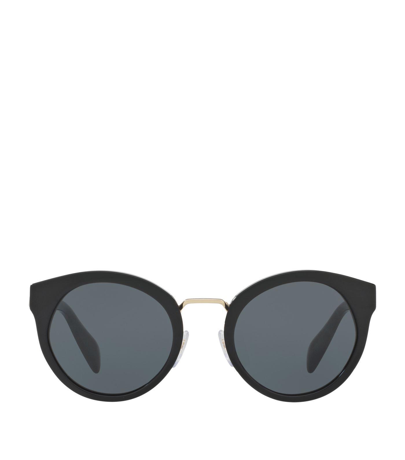 Prada Cat-eye Acetate Sunglasses In Black
