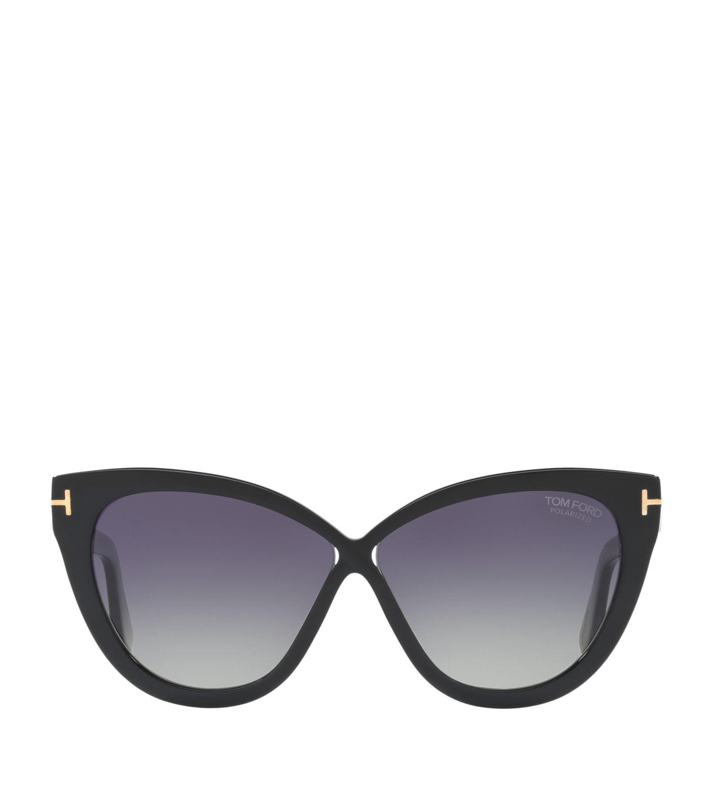 3ef9493aa41cc Tom Ford Reveka 59Mm Gradient Cat Eye Sunglasess - Black  Rose Gold  Silver  Flash