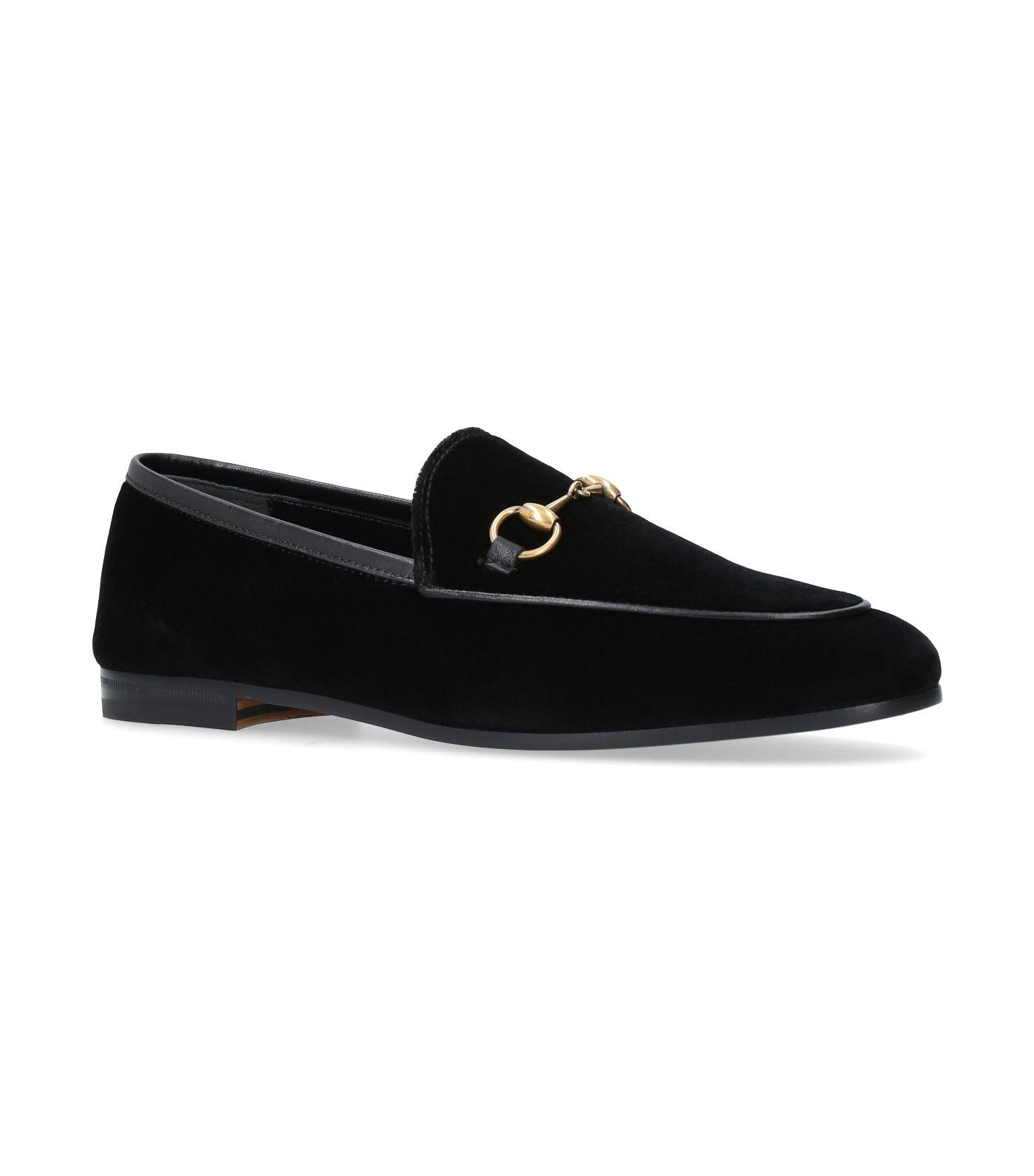 979aa699007 Gucci 10Mm New Jordaan Velvet Loafer In Black