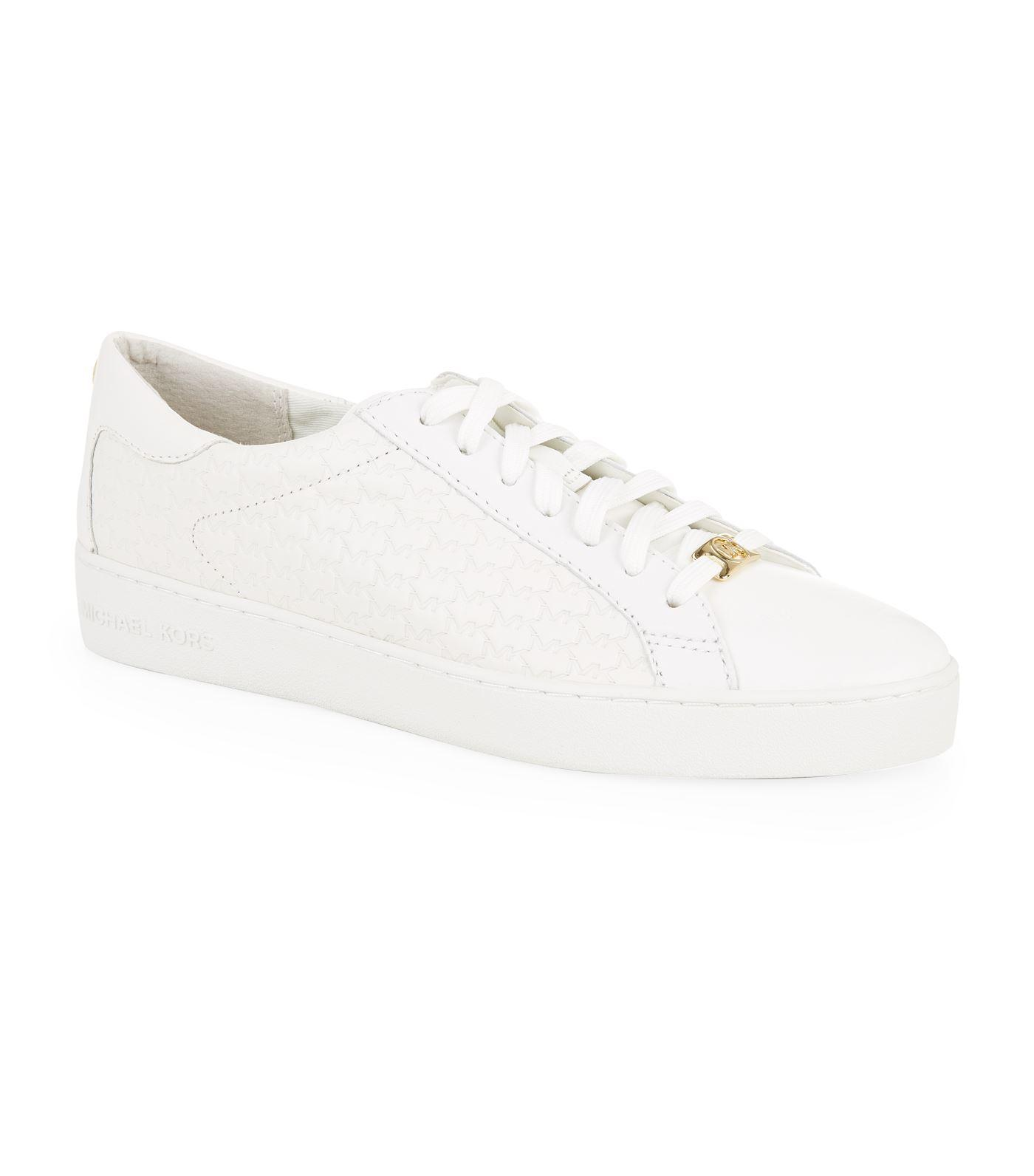 5f73704f220f Michael Michael Kors Colby Leather Trainers In White | ModeSens