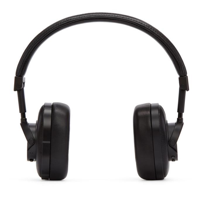 Master & Dynamic Mw60 Leather On-ear Wireless Headphones In Black/black