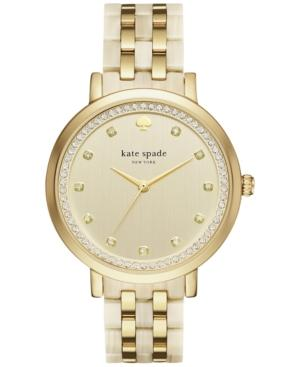 Kate Spade Gold And Horn Monterey Watch