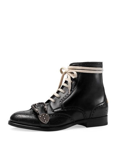 d986d311a54 QUEERCORE LACE-UP BROGUE BOOT W/BUCKLE