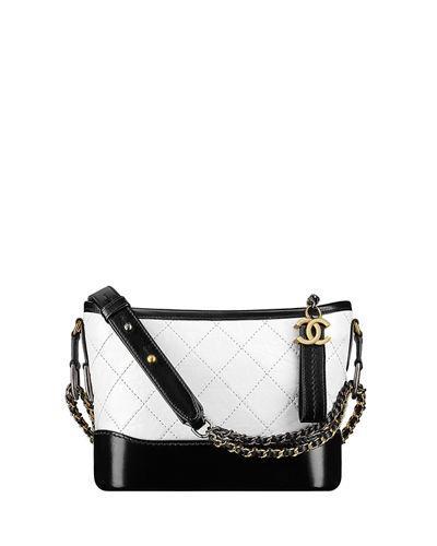 92bc7fb0b9 Chanel 's Gabrielle Small Hobo Bag In White/Black | ModeSens