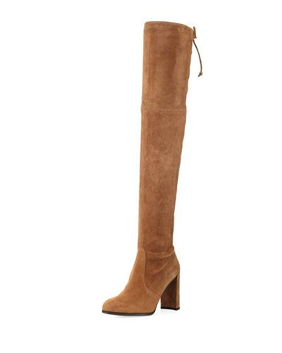 1226a329d01 Stuart Weitzman Woman Highland Suede Over-The-Knee Boots Camel ...