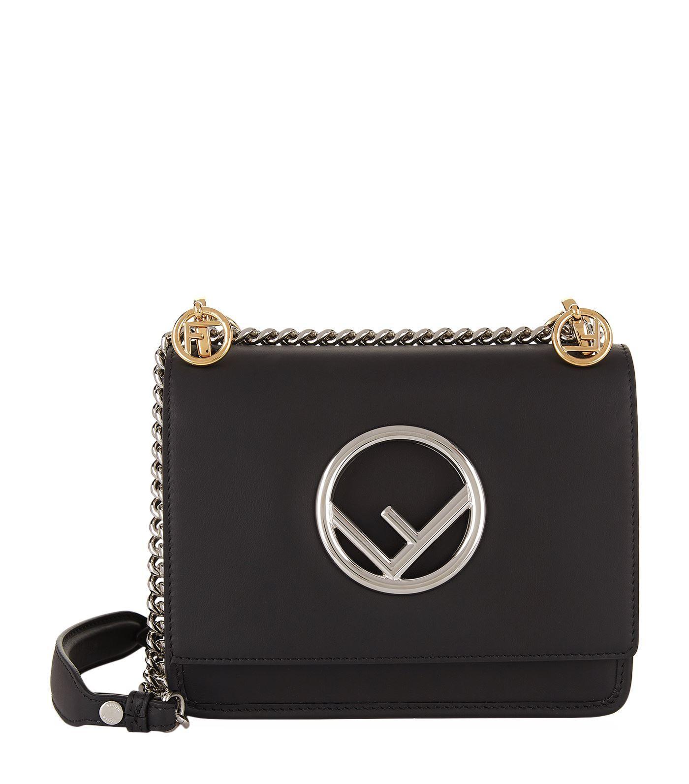 5e13431b19 Fendi Medium Kan I Leather Shoulder Bag