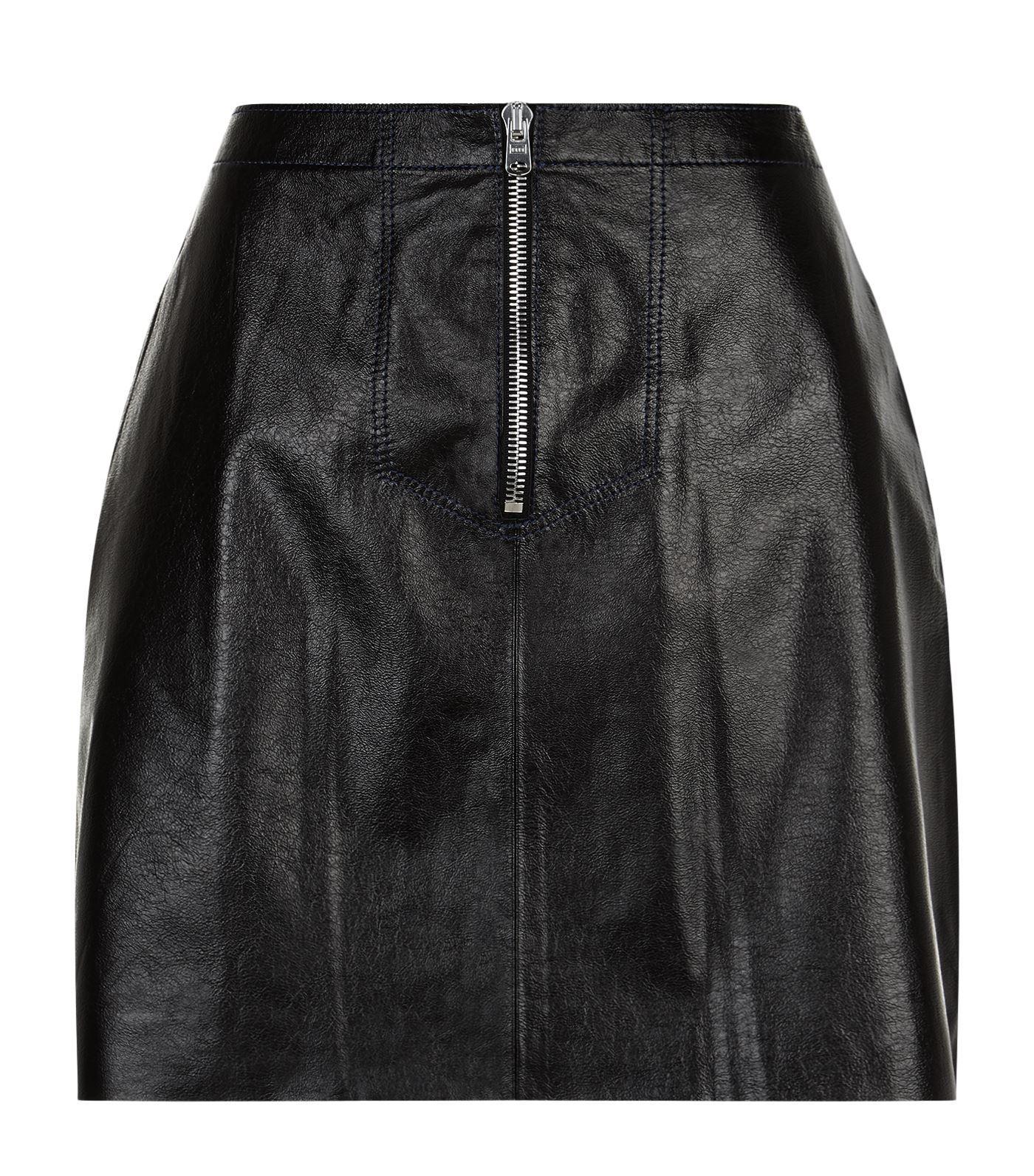 3372beb3fa Sandro Ray Leather Mini Skirt In Black | ModeSens
