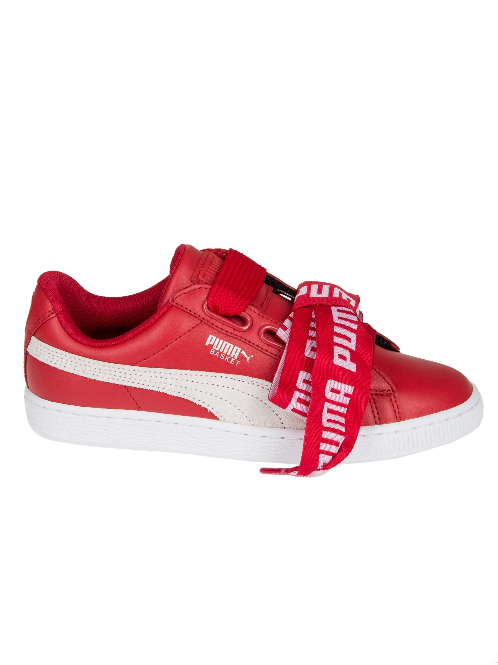 41c0b62a53a0 Puma Women s Basket Heart De Casual Sneakers From Finish Line In Red ...